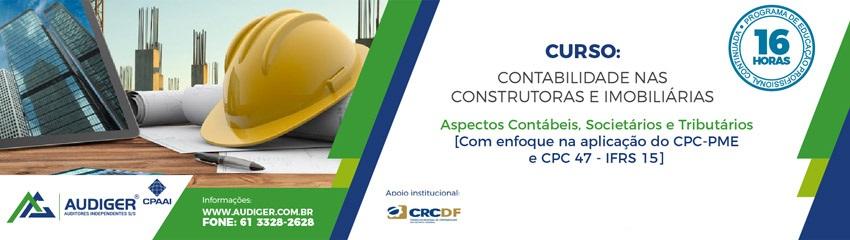 Curso Contabilidade nas Construtoras e Imobiliárias