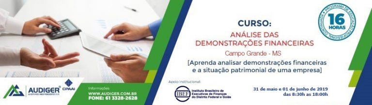Curso Análise das Demonstrações Financeiras em Campo Grande – MS