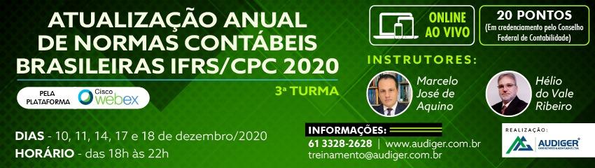 ATUALIZAÇÃO ANUAL DE NORMAS CONTÁBEIS BRASILEIRAS IFRS/CPC 2020 – Turma 3